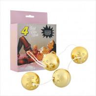 Gold Vibro Loveballs
